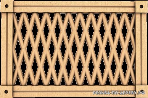 Декоративная Решетка №35 из дерева