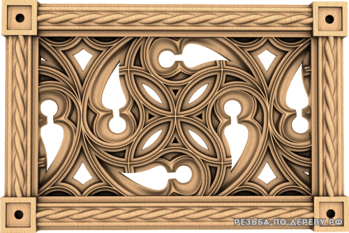 Декоративная Решетка №26 из дерева