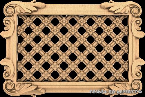 Декоративная Решетка №36 из дерева