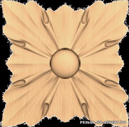 Розетка №543 из дерева