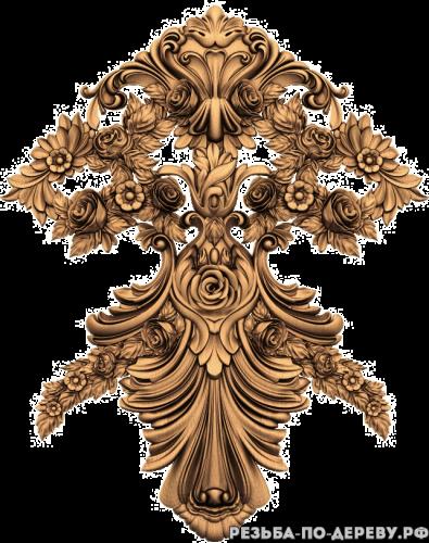 Резное панно Цветы #19