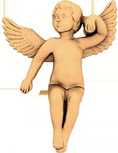 Резной ангелочек из дерева