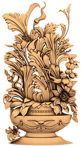 Резные декоративные цветы из дерева