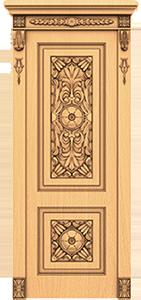 Резная дверь с декором