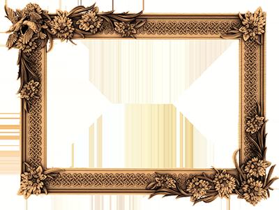 Декоративная резная рама для зеркал и картин
