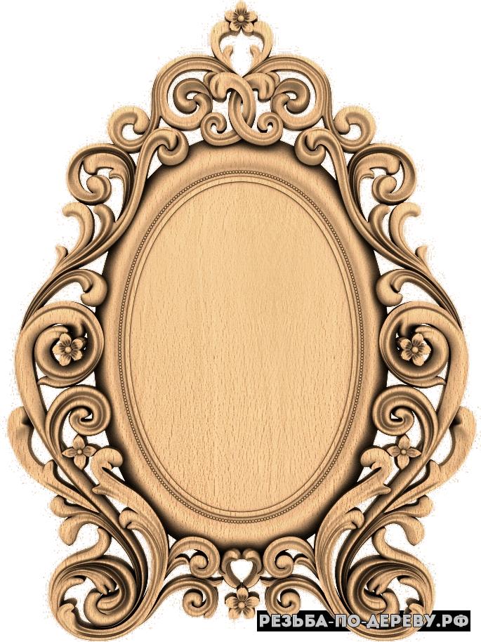 Резная рама №351 из дерева для картины или зеркала. Под заказ