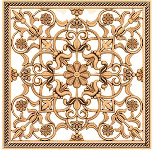 Деревянная декоративная решётка